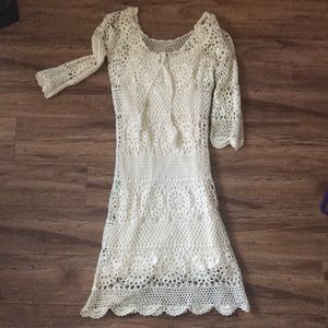 Macrame ivory Quicksilver sundress size Small